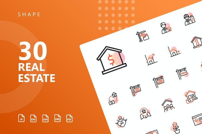 Thumbnail for Real Estate Shape Icons
