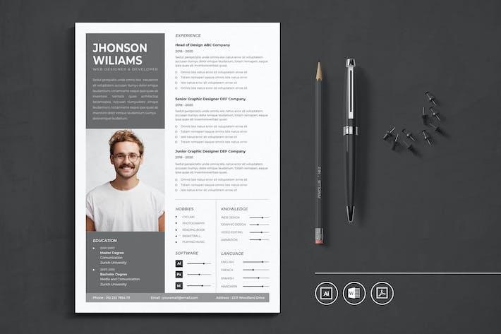 Thumbnail for CV Resume Vol.8