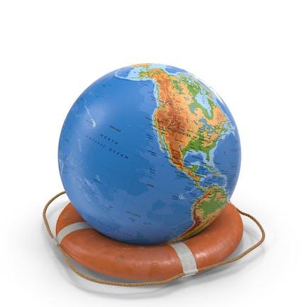 Salvavidas y forma de globo