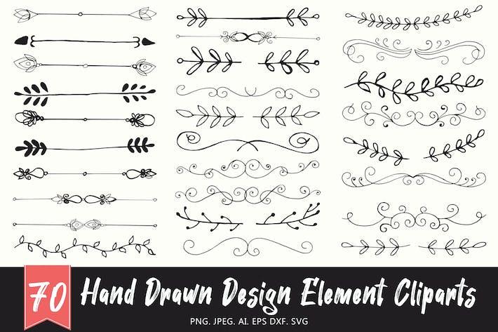 Thumbnail for Handmade Design Element Cliparts Ver. 1