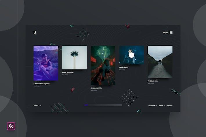 Portfolio Homepage Template r1 - Adobe XD