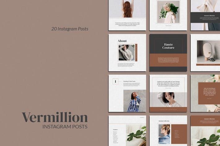 Thumbnail for Vermillion Instagram Post Templates
