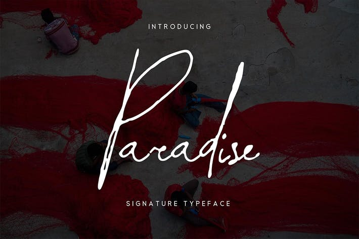 Thumbnail for Paradise | Signature Typeface