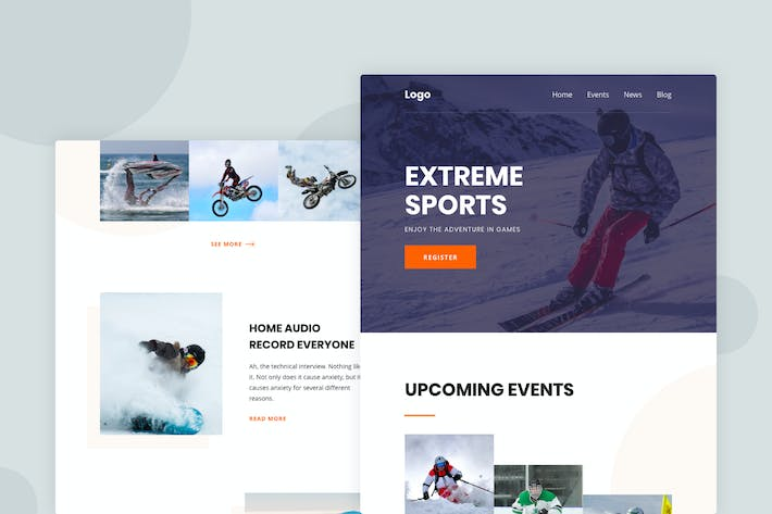 Thumbnail for Extreme Sports - Email Newsletter