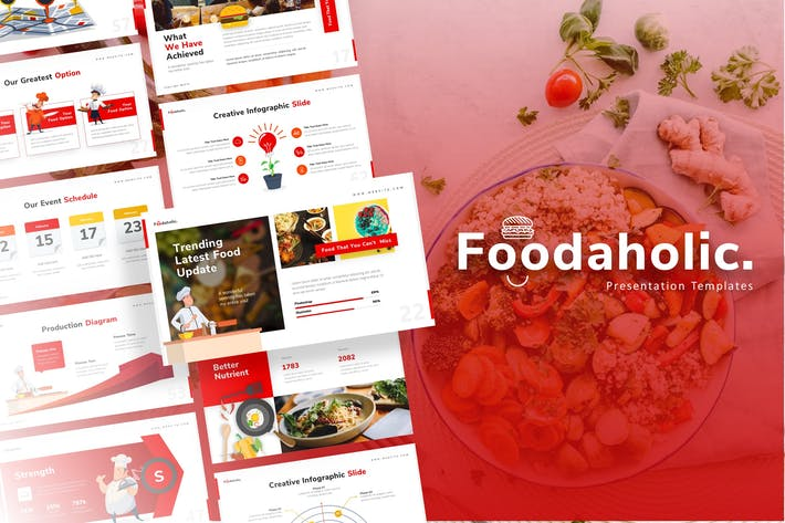 Thumbnail for Foodaholic - Culinary PowerPoint Template
