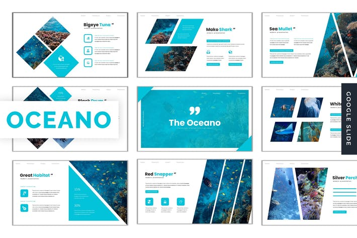 Thumbnail for The Oceano - Google Slides Template
