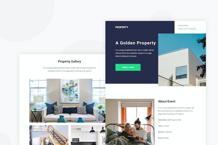 Thumbnail for Propriété & Appartement - Email Newsletter