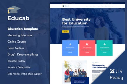 Educab - University Education Joomla 4 Template