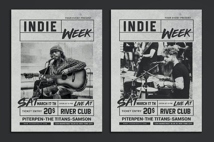 Thumbnail for Indie Week Flyer