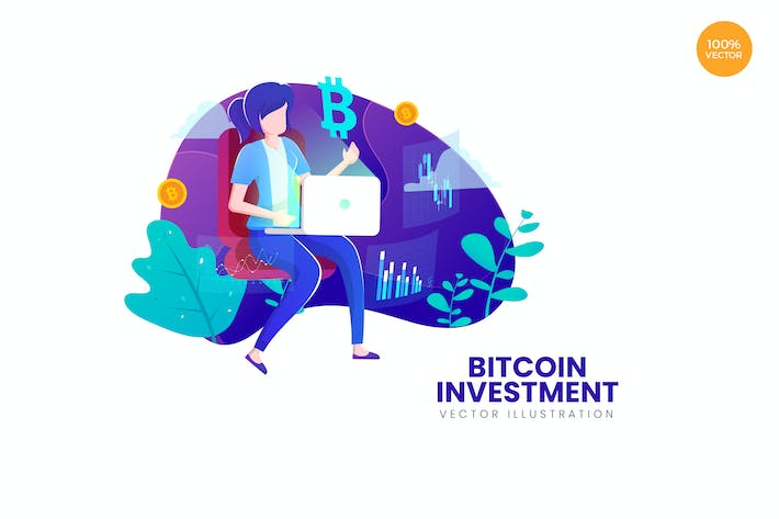 Thumbnail for Bitcoin Investment Vector Illustration Concept