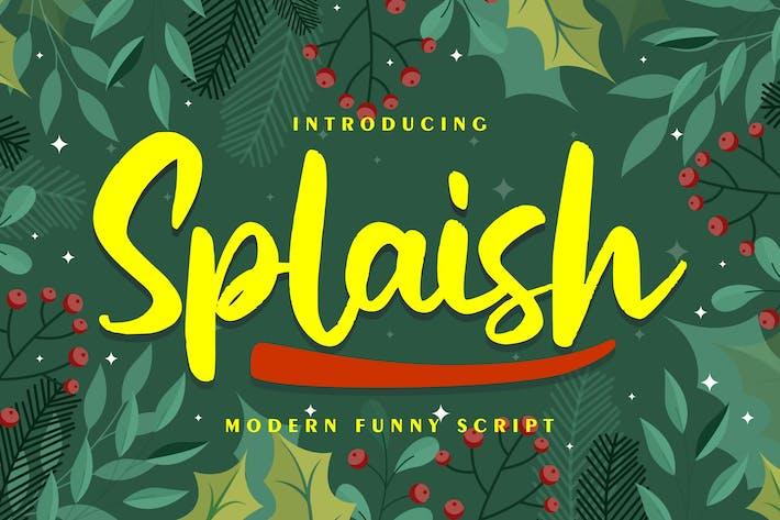 Splaish | Modern Funny Script Font