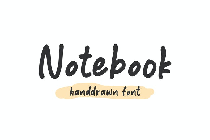 Thumbnail for Notebook - Handdrawn Font