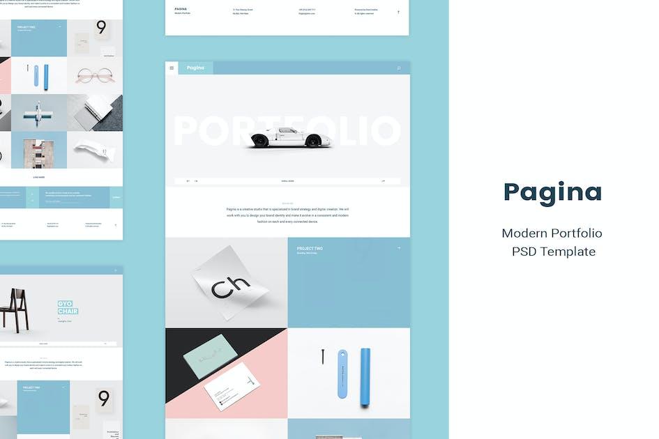 Download Pagina | Creative Portfolio PSD Template by Leonard_Design