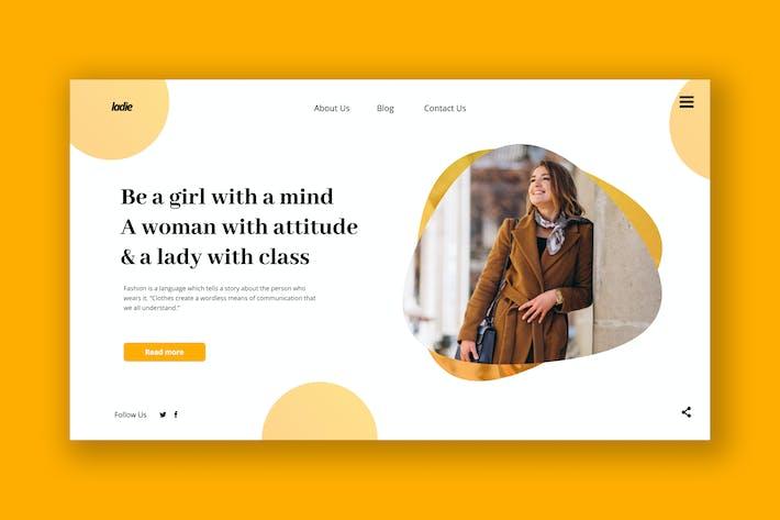 Thumbnail for Modèle PSD de tête de héros féminin professionnel