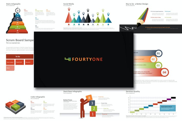 Thumbnail for Fourty One  - Powerpoint Template