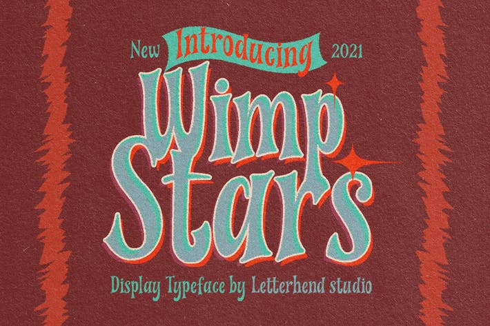 Wimp Stars - Tipo de letra de visualización