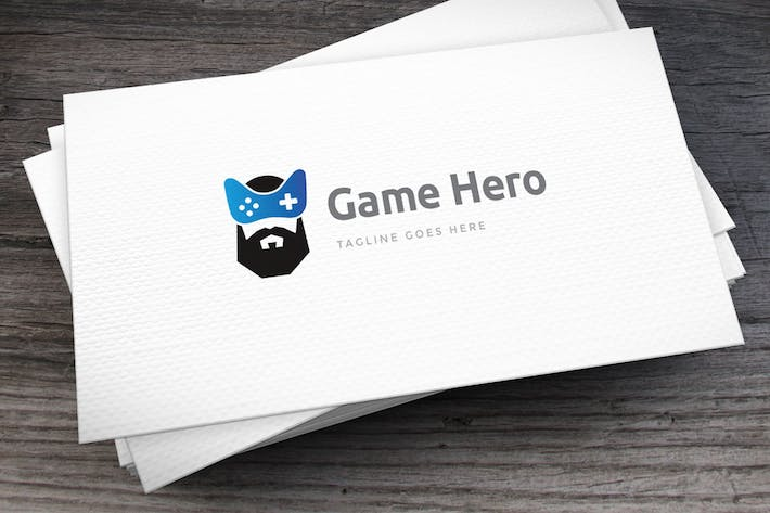 Thumbnail for Game Hero Logo Template