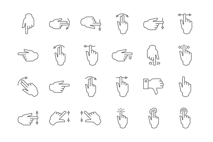 Thumbnail for 39 Touch Gesture Icons