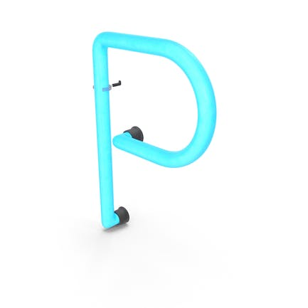 Neon-Buchstabe P