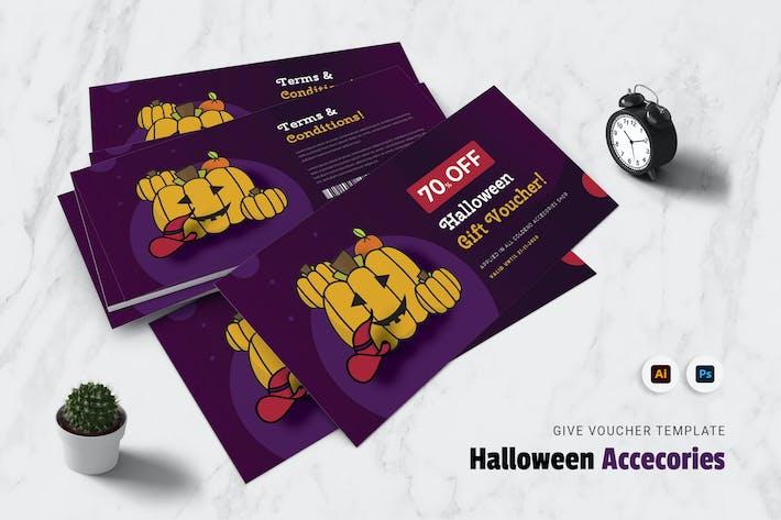 Hallowen Accecories Gift Voucher