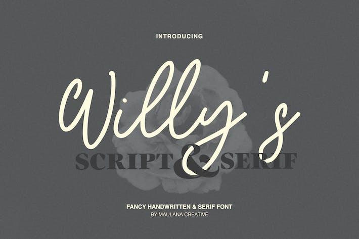 Thumbnail for Willys Script Con serifa Fuente