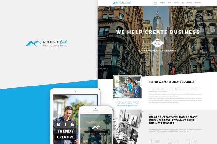 Cover Image For Mountcool - Creative OnePage Multipurpose Template