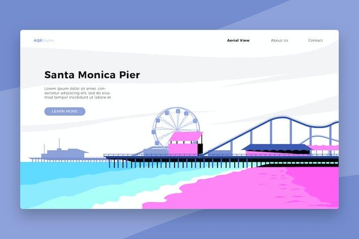 Thumbnail for Santa Monica Pier - Banner & Landing Page