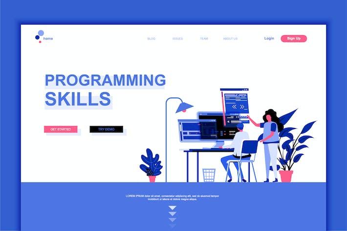 Thumbnail for Programming Skills Flat Landing Page Template