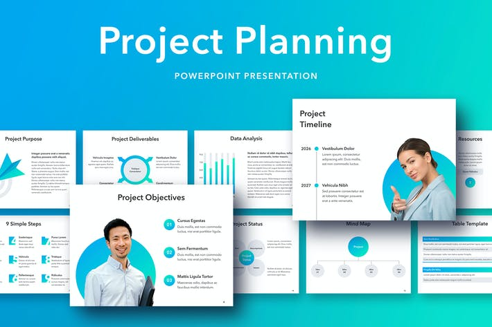Thumbnail for Шаблон PowerPoint для планирования проекта