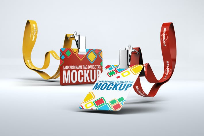 Lanyard Name Badge Tag Mock Up By L5design On Envato Elements