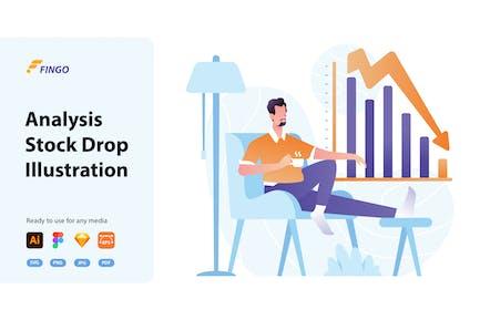 Fingo - Análisis de Stock Drop Ilustración