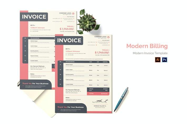 Thumbnail for Modern Billing Invoice