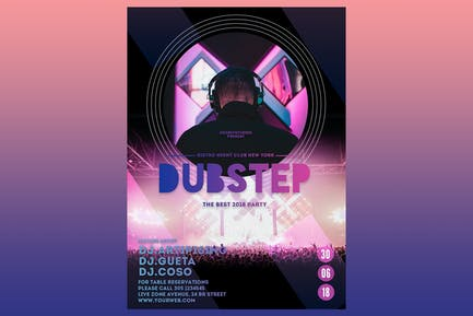 Dubstep Party Flyer Poster
