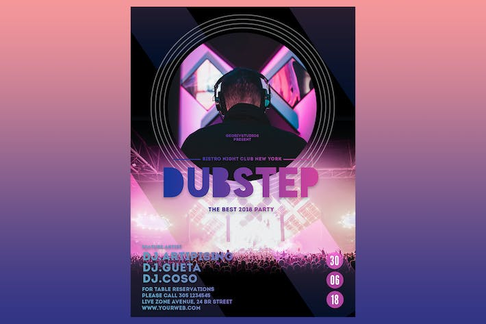 Thumbnail for Dubstep Party Flyer Poster
