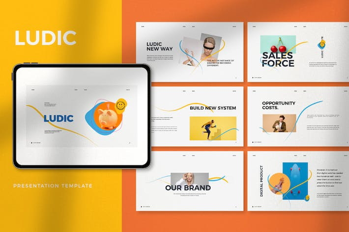 Thumbnail for Ludic - Minimal Creative Agency Powerpoint