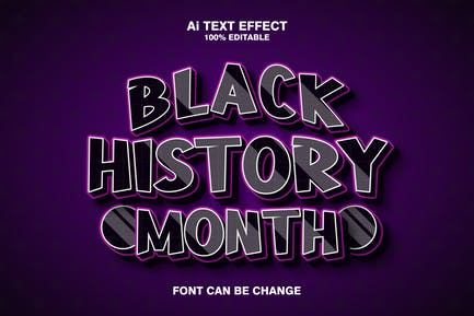 Black history month 3d text effect