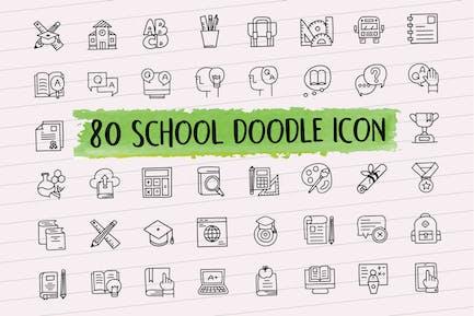 80 Schule Doodle Icon