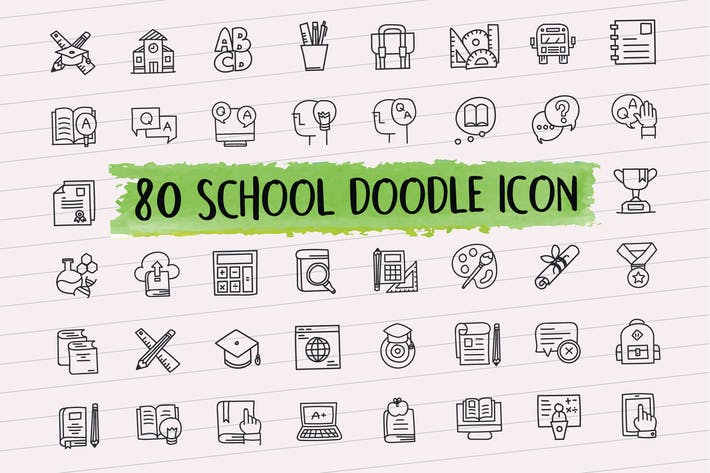 Thumbnail for 80 School Doodle Icon