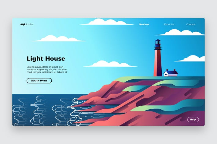 Thumbnail for Light House - Banner & Landing Page