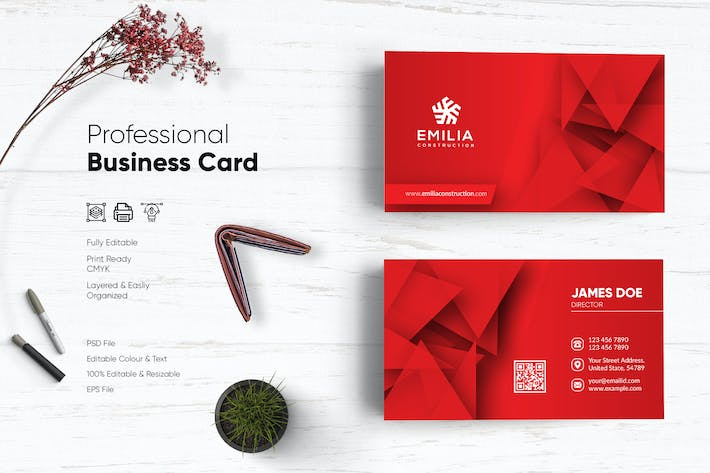 Thumbnail for Clean Business Card Template