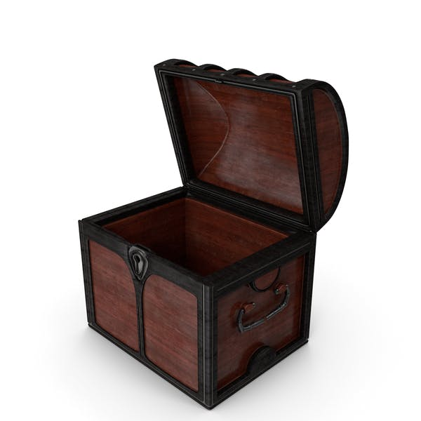 Small Wooden Chest Open