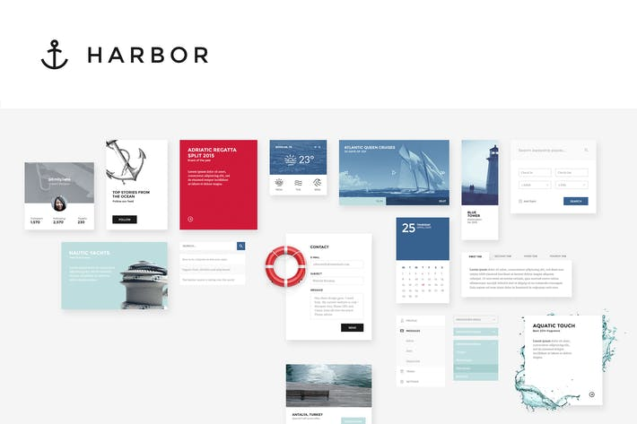 Cover Image For Harbor UI Kit