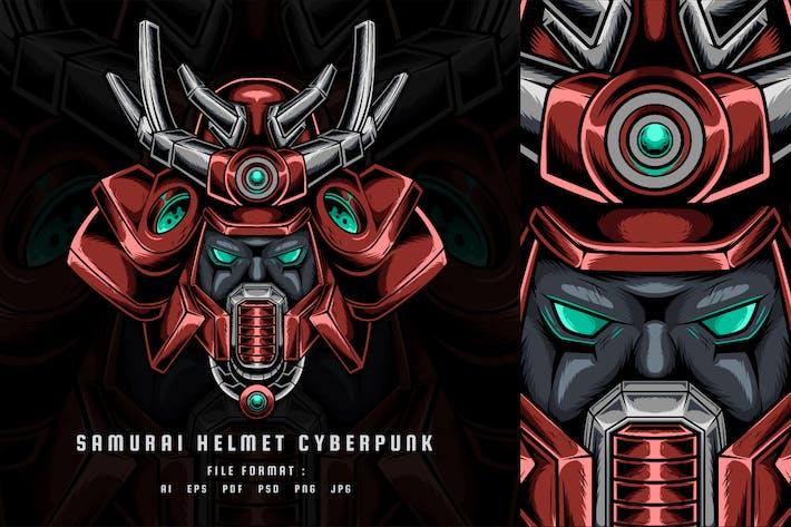 Samurai-Helm Cyberpunk