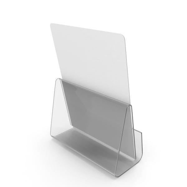 Weißes Papierbanner mit Ständer