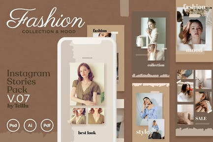 Instagram Stories v.07 Fashion Collection & Mood