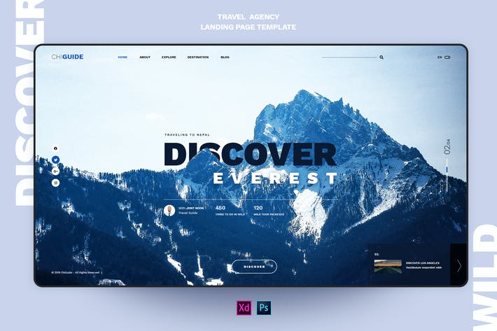 Thumbnail for ChiGuide - Travel landing page template