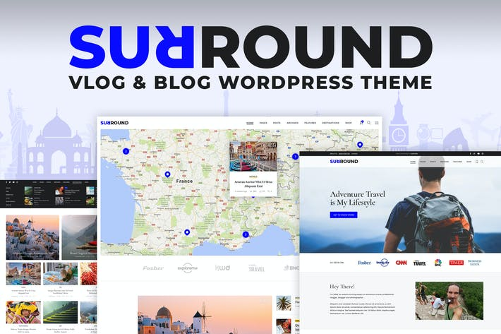 Thumbnail for Surround Vlog & Blog WordPress Theme