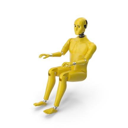 Crashtest Dummy Sitzende Haltung
