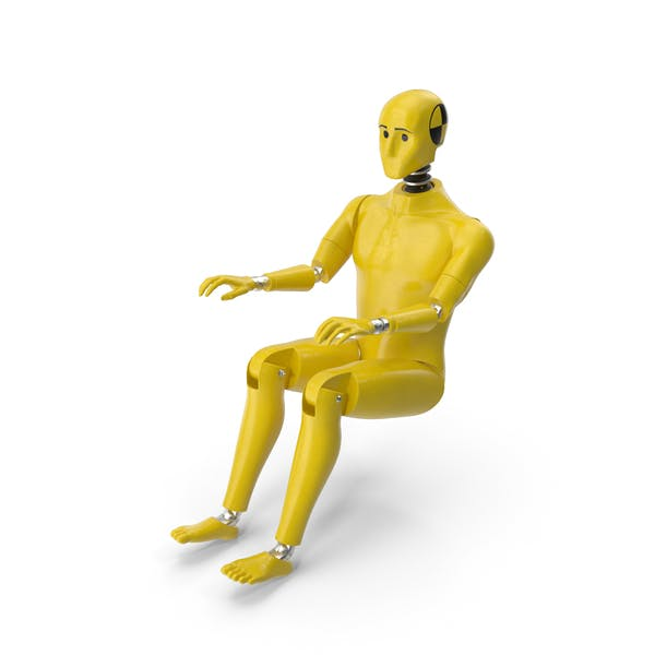 Crash Test Dummy Sitting Posture