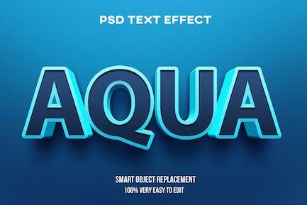Aqua text effect